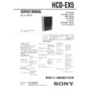 Sony CMT-EX5, HCD-EX5 Service Manual