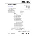 Sony CMT-EX5 Service Manual