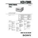 Sony CMT-F3MD, HCD-F3MD Service Manual