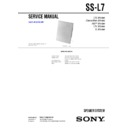 Sony CMT-L1, CMT-L7HD, SS-L7 Service Manual