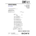 Sony CMT-L1 Service Manual