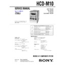 CMT-M100MD, HCD-M10 Service Manual