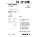 cmt-m100md service manual