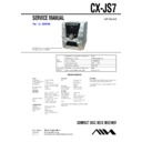Sony CX-JS7, JAX-S7 Service Manual