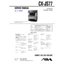 Sony CX-JS77, JAX-S77 Service Manual