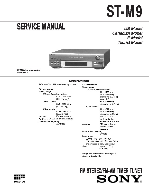 sony dhc md7 st m9 service manual view online or download repair rh servlib com