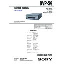 Sony DVP-S9, MHC-S9D Service Manual