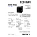 Sony FH-G70, HCD-H690, HCD-H701, MHC-701, MHC-S300 Service Manual