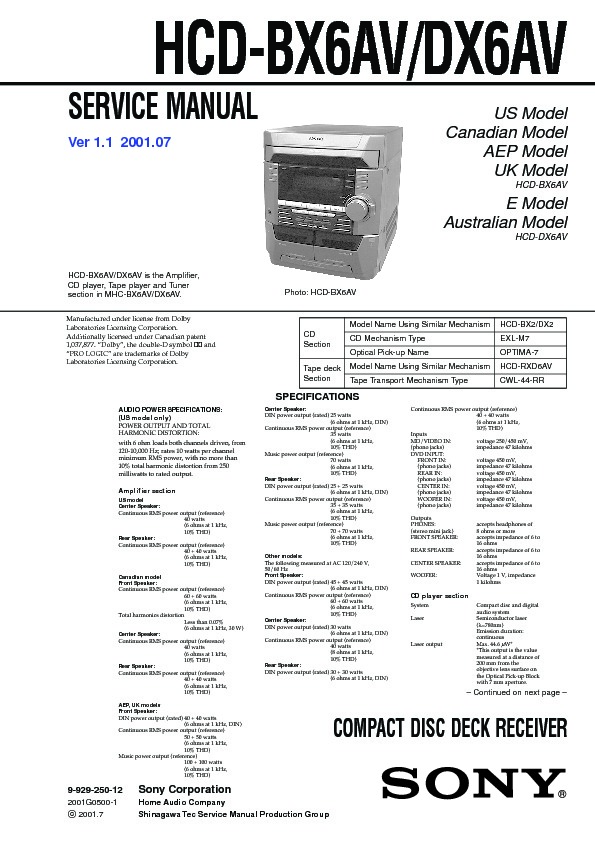 Sony hcd bx6av hcd dx6av mhc bx6av mhc dx6av service manual hcd bx6av hcd dx6av mhc bx6av mhc dx6av sony audio service manual repair manual sciox Image collections