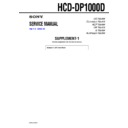 hcd-dp1000d (serv.man2) service manual