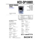 HCD-DP1000D Service Manual
