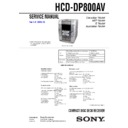Sony HCD-DP800AV, MHC-DP800AV Service Manual