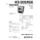 HCD-RG30, MHC-DX20, MHC-RG30 Service Manual