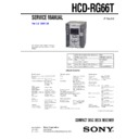 Sony HCD-RG66T Service Manual