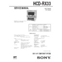 Sony HCD-RX33 Service Manual