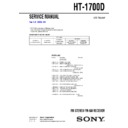 Sony HT-1700D Service Manual