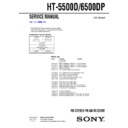 Sony HT-5500D, HT-6500DP Service Manual