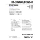Sony HT-DDW740, HT-DDW840 Service Manual