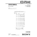 Sony ICD-PX440 Service Manual