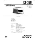 ICF-380 Service Manual