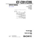 Sony ICF-C201, ICF-C205 Service Manual