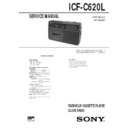 Sony ICF-C620L Service Manual