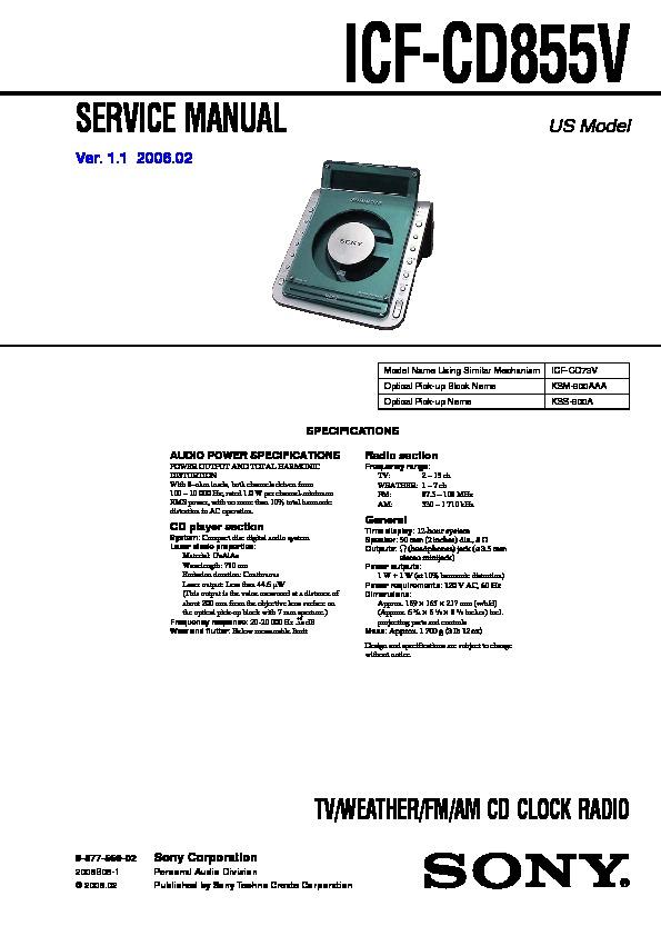sony icf cd855v service manual page 25 rh servlib com