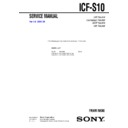 icf-s10 service manual