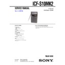 ICF-S10MK2 (serv.man2) Service Manual