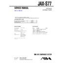 Sony JAX-S77 Service Manual