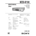 Sony MDS-M100 Service Manual