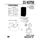Sony MHC-3750, SS-H3750 Service Manual