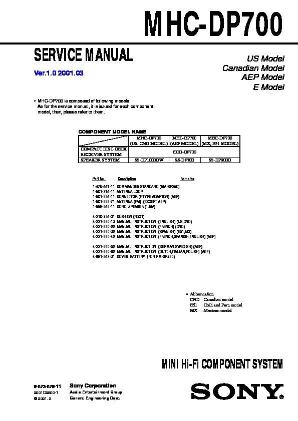 sony mhc dp700 service manual view online or download repair manual rh servlib com dmv manual in spanish manuel in spanish
