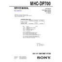 Sony MHC-DP700 Service Manual