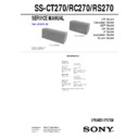 Sony MHC-DP800AV, MHC-S9D, MHC-SV7AV, MHC-VP800AV, SS-CT270, SS-RC270, SS-RS270 Service Manual
