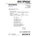 mhc-dp800av service manual