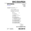mhc-dx20, mhc-rg30 service manual