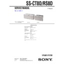 Sony MHC-GNZ8D, SS-CT8D, SS-RS8D Service Manual