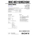 MHC-MG110, MHC-MG310AV Service Manual