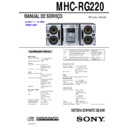 Sony MHC-RG220 Service Manual