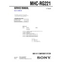Sony MHC-RG221 Service Manual