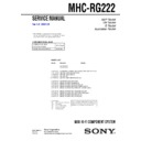 Sony MHC-RG222 Service Manual