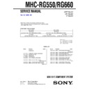 Sony MHC-RG550, MHC-RG660 Service Manual