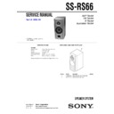 Sony MHC-RG66, SS-RS66 Service Manual