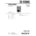 Sony MHC-RG660, SS-RS660 Service Manual