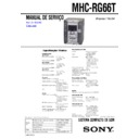Sony MHC-RG66T Service Manual