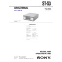 Sony MHC-S3, ST-S3 Service Manual