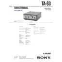 Sony MHC-S3, TA-S3 Service Manual