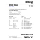 Sony MHC-S3 Service Manual