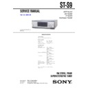 Sony MHC-S9D, ST-S9 Service Manual
